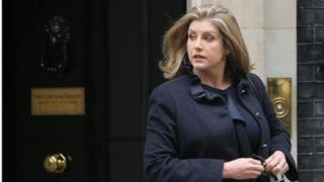 Penny Mordaunt outside 10 Downing Street
