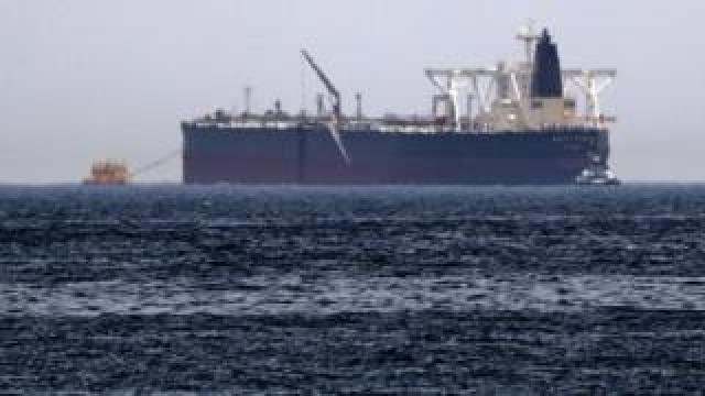 "Crude oil tanker, Amjad, which was one of two reported tankers that were damaged in mysterious ""sabotage attacks"" this year"