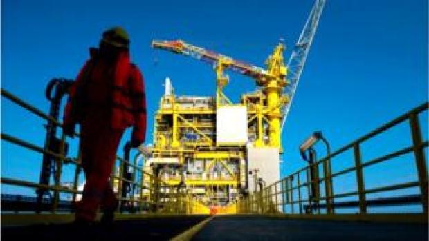 Oil platform in North Sea