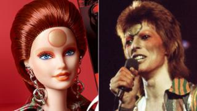 Barbie as Bowie (Mattel) and David Bowie