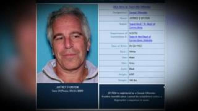 Florida Department of Law Enforcement sex offenders card on Jeffrey Epstein.