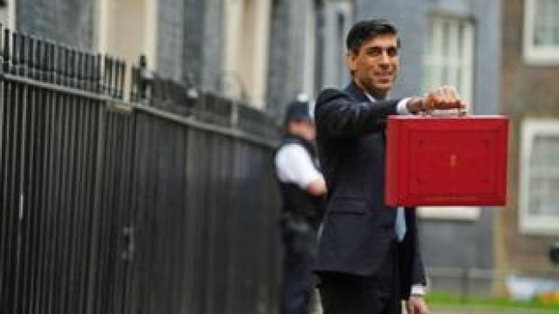Rishi Sunak outside Downing Street