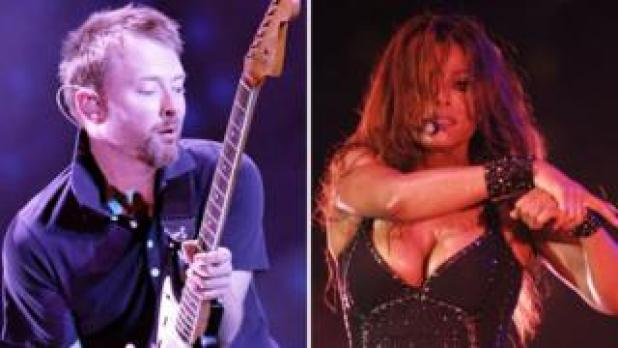Thom Yorke of Radiohead and Janet Jackson