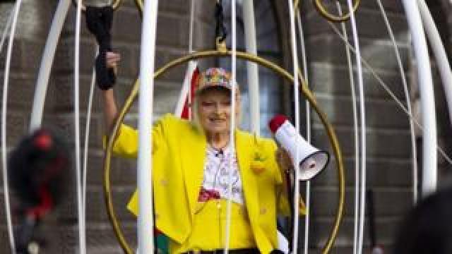 Vivienne Westwood in bird cage