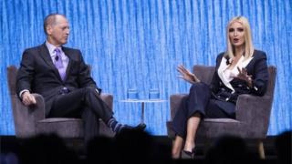 trump Ivanka Trump on stage at CES