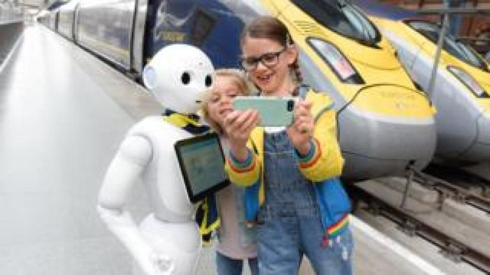 Pepper, Eurostar's robot, helps passengers with their travels