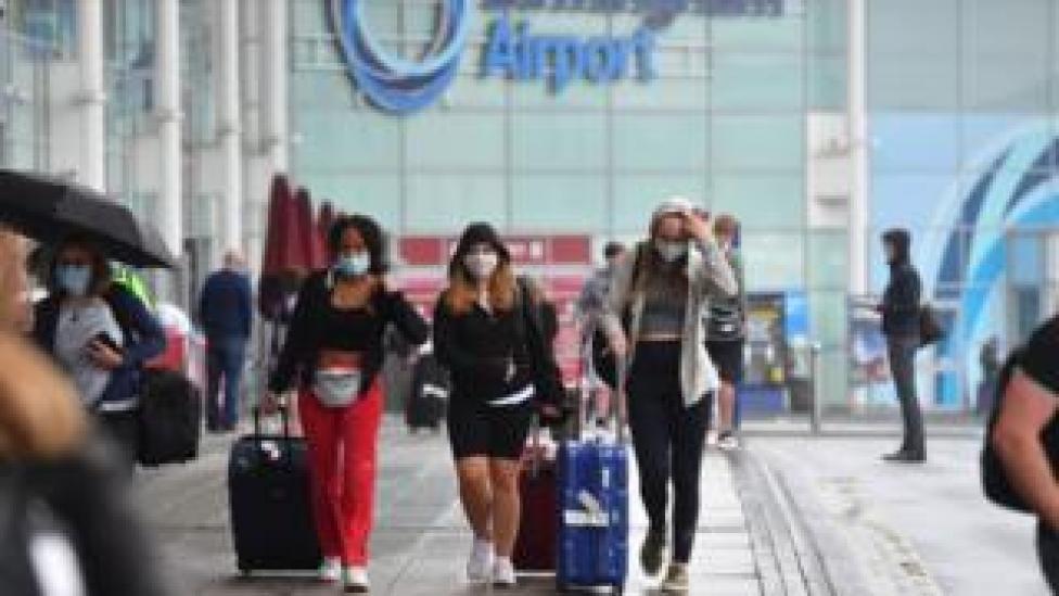 People leaving Birmingham airport
