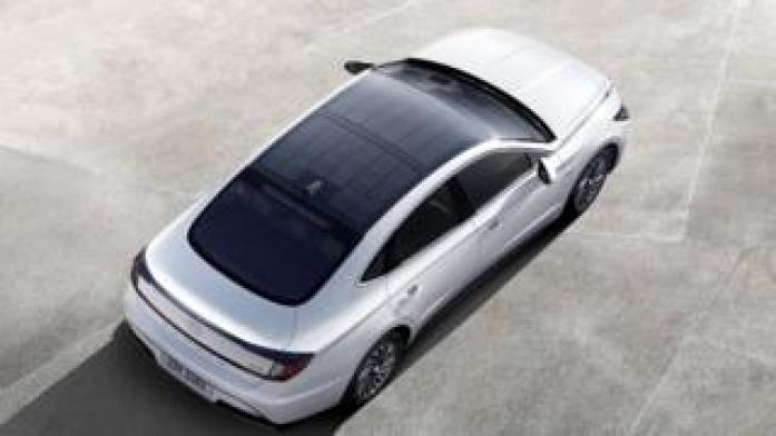 Hyundai Sonata with solar roof