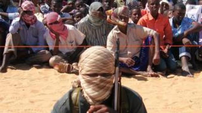 Al-Shabab fighter pictured in Somalia in 2012
