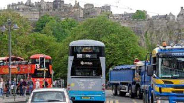 traffic in Edinburgh
