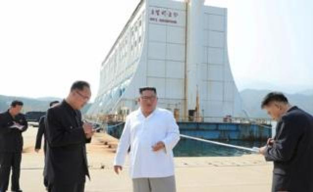 North Korean leader Kim Jong-un inspects the Mount Kumgang tourist resort, North Korea, in this undated picture released by North Korea's Central News Agency (KCNA) on October 23, 2019