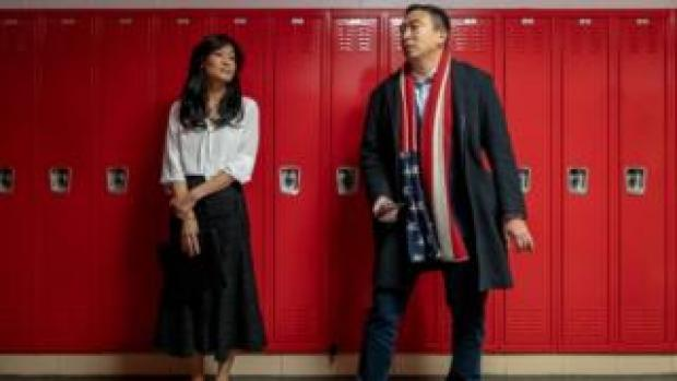 Evelyn Yang, pictured with husband Andrew Yang