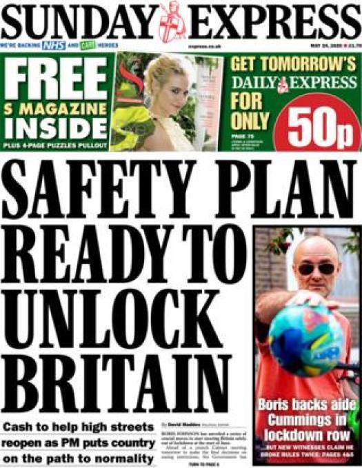 Express front page 24 May