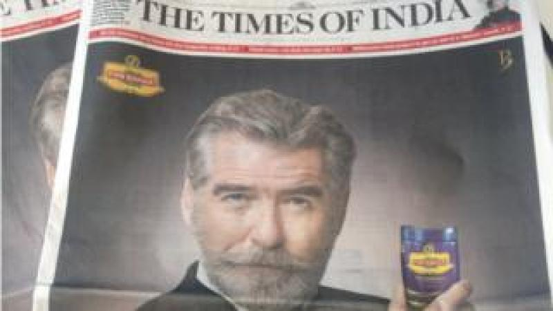 The advertisement in the Times of India