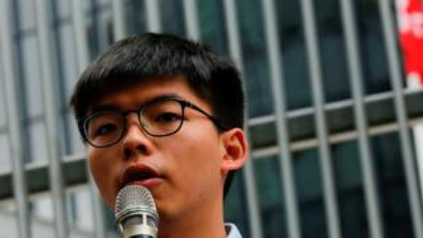 Security: Pro-democracy activist Joshua Wong speaks to journalists after being disqualified from running in the local district's council elections in November, in Hong Kong, China October 29, 2019.