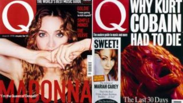 Q Magazine covers