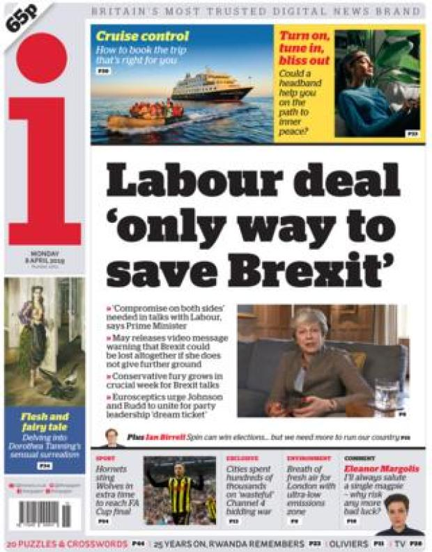 The i front page, 8/4/19