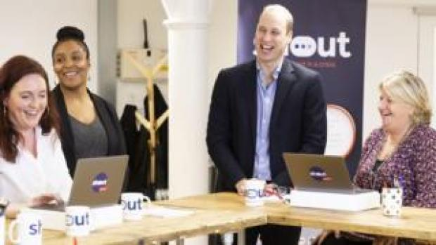 The Duke of Cambridge meets Shout volunteers