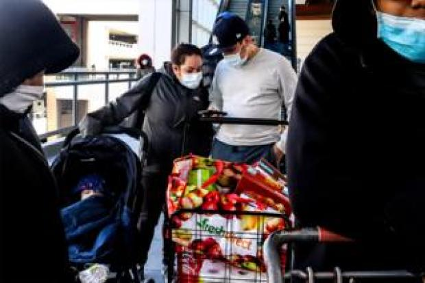 Grocery shopping during a pandemic