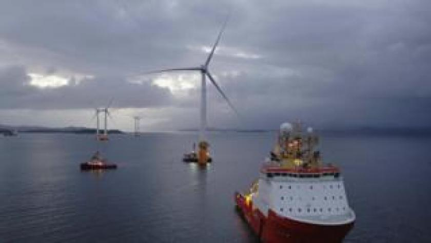 turbines being moved into place