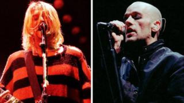 Kurt Cobain and Michael Stipe