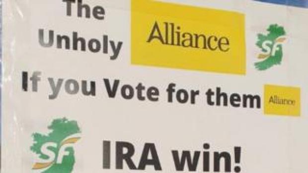 Anti-Alliance election leaflet