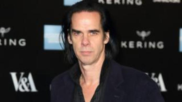 Nick Cave at an exhibition, March 2015