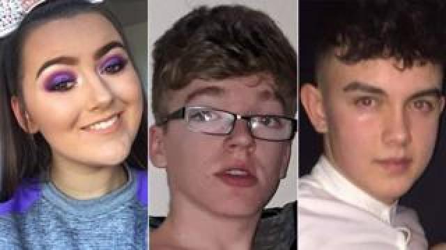 Lauren Bullock, Morgan Barnard and Connor Currie