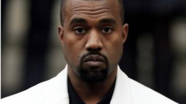 US rapper Kanye West
