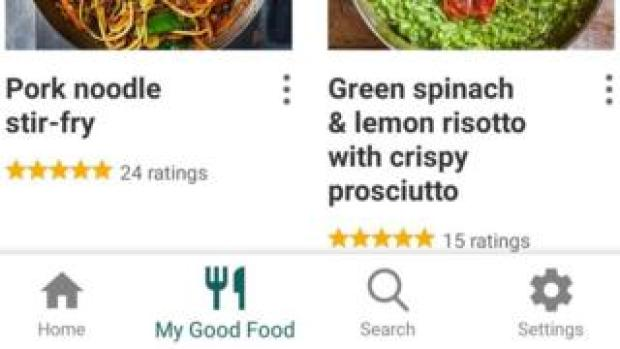 One of the adverts appeared on the BBC's Good Food app
