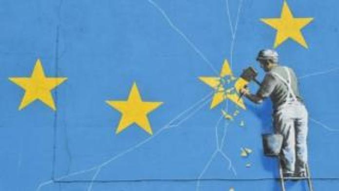 Banksy Brexit mural in Dover