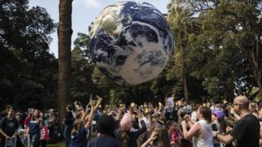 Image from climate protests