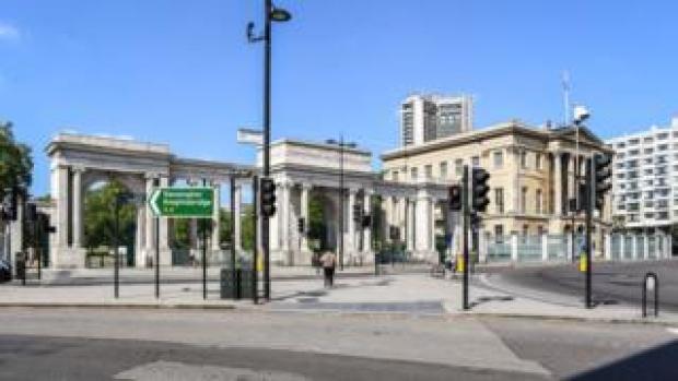 Empty London roads in lockdown