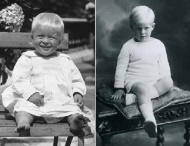 Prince Philip as a baby and young boy