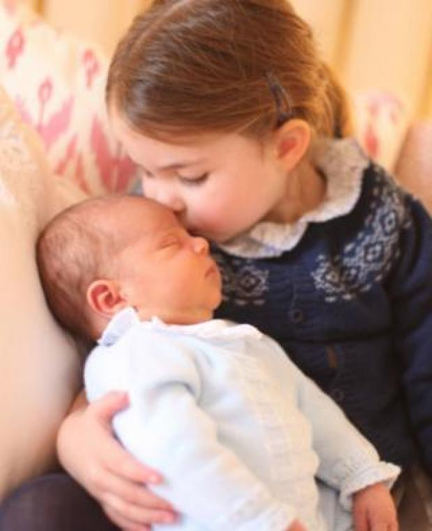 Princess Charlotte with her brother Prince Louis