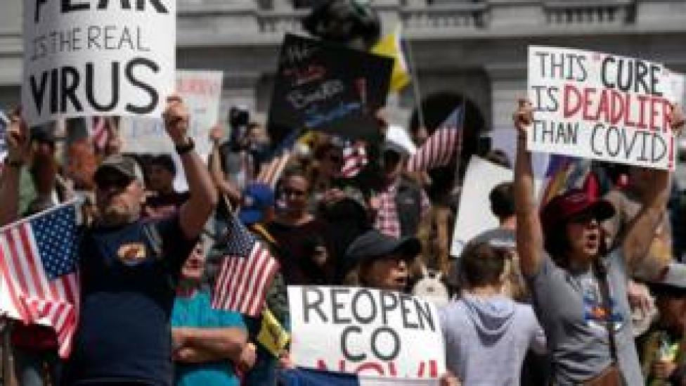 trump Protests have been planned for across the US calling for the lifting of stay-at-home orders.