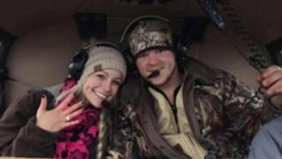 The couple was killed in a helicopter crash after his own wedding
