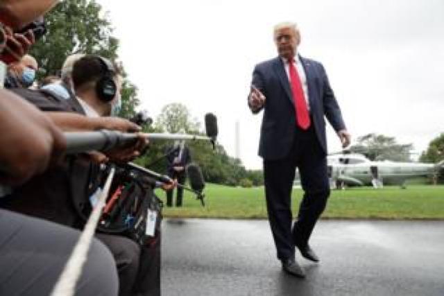 Trump outside White House