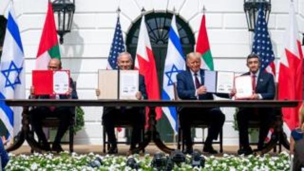 توقيع اتفاقية التطبيع بين إسرائيل والإمارات والبحرين