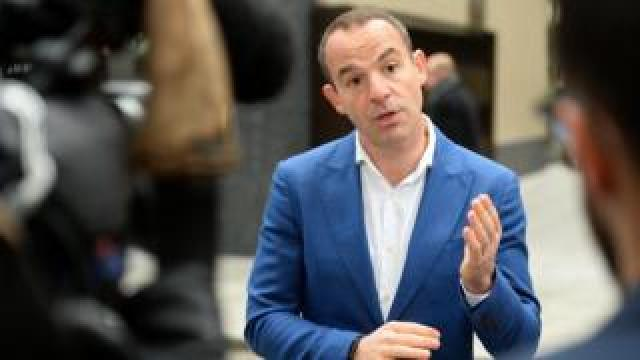 Money Saving Expert's Martin Lewis speaks to the media after a joint press conference with Facebook at the Facebook headquarters in London.