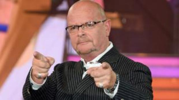 James Whale entering the Celebrity Big Brother house in 2016