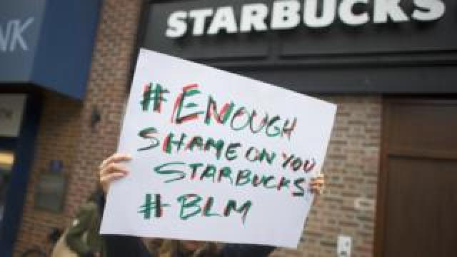 Starbucks protest