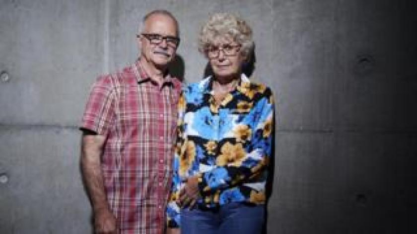 Undated Channel 4 handout photo of David and Carolynne, who were a particip ants in the new Channel 4 series Smuggled, which tasks members of the public with entering the UK illegally in an experimental test of border security.