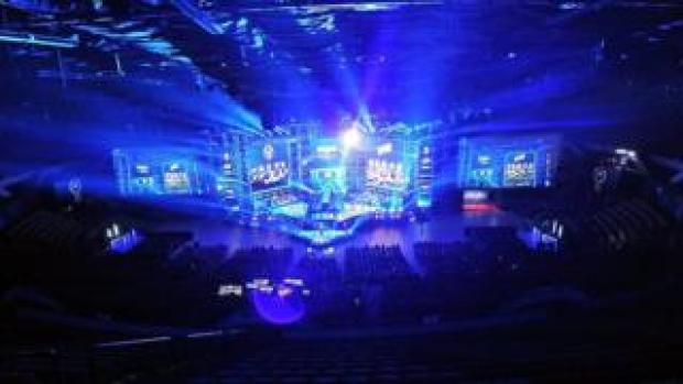 The arena for Counter-Strike: Global Offensive Final game during ESL Intel Extreme Masters in March 2020