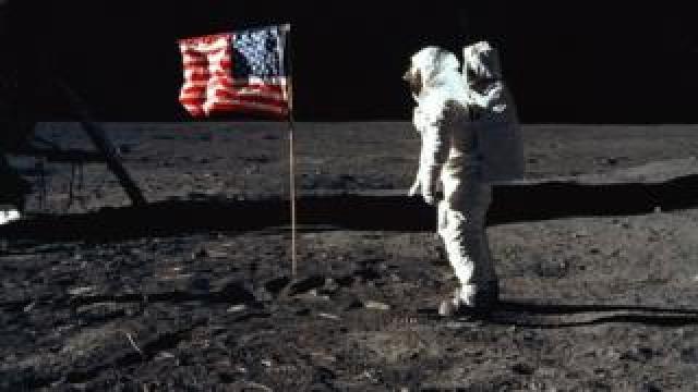 US astronaut on Moon