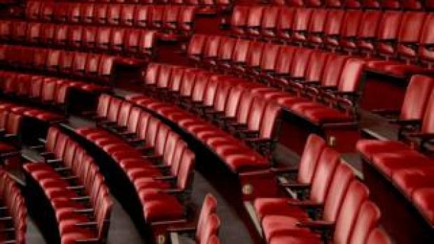 Empty seats at the London Coliseum
