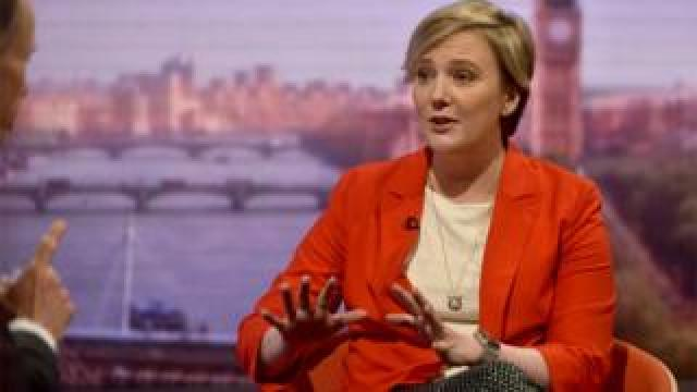 File image of Stella Creasy appearing on the BBC's The Andrew Marr Show in February 2018