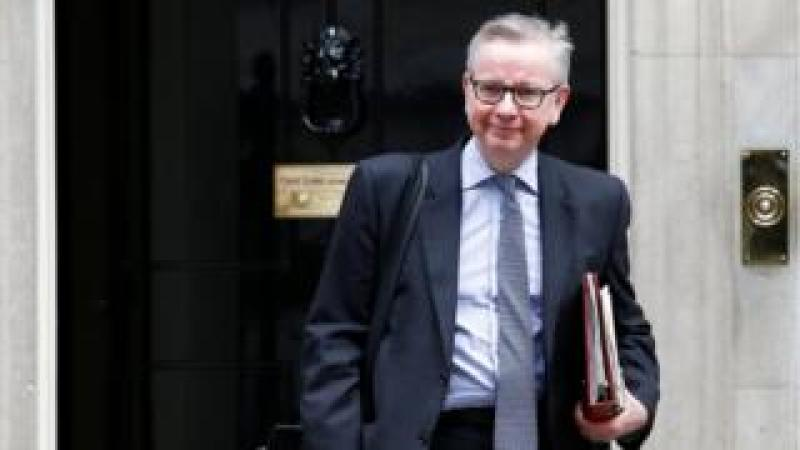 Michael Gove outside 10 Downing Street