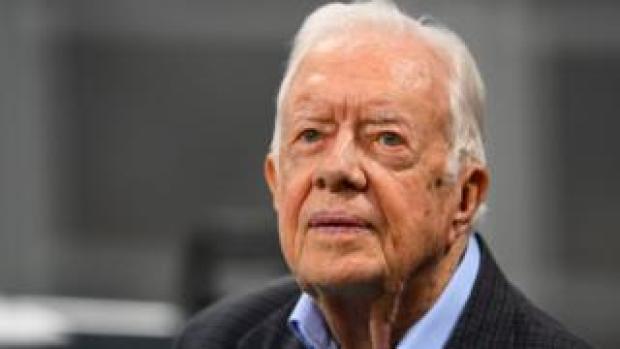 Former US President Jimmy Carter on 30 September 2018