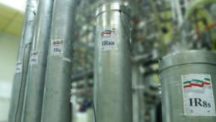 Handout photo from the Atomic Energy Organisation of Iran showing advanced centrifuges at the Natanz uranium enrichment facility in Iran (4 November 2019)